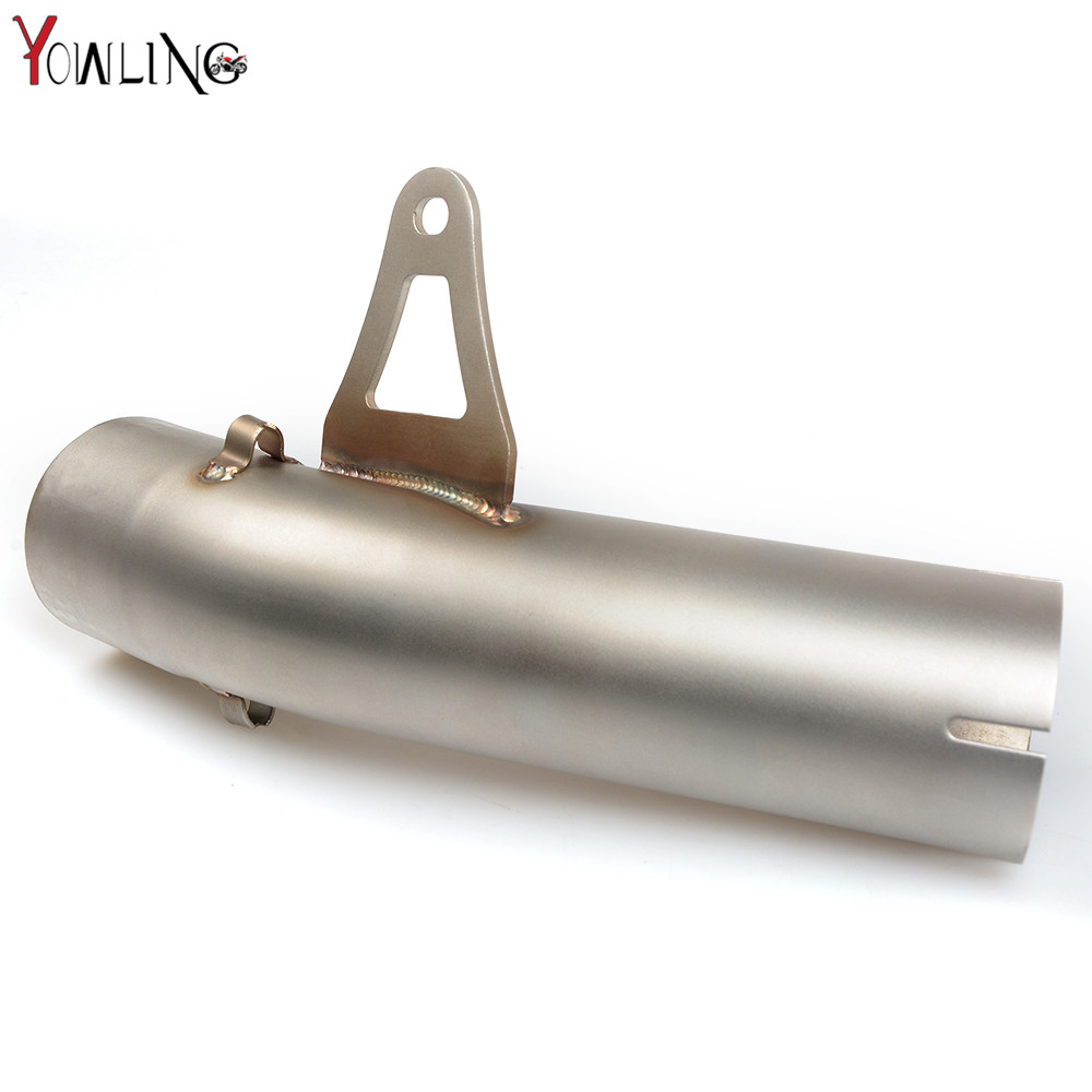 S1000RR Motorcycle mid exhaust pipe middle exhaust pipe Exhaust middle 58mm pipe for BMW S1000RR 2009 2010 2011 2012 2013 2014