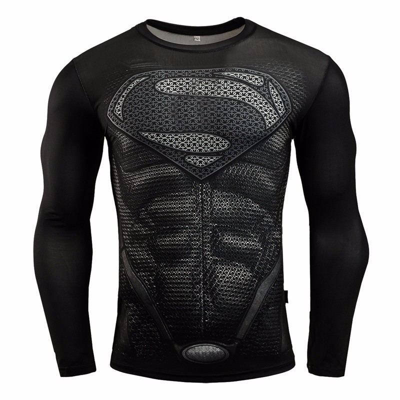 Marvel Gyms Clothing Fitness Compression Shirt Men Batman t-shirt men Long Sleeve 3D t shirt men Crossfit Tops tee shirt homme 32