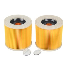 2-Pack compatible Cartridge Filter for KARCHER MV2 MV3 WD2.200 WD3.500 A2504 A2654 A223 Wet & Dry Vacuum Cleaner Filter(China)