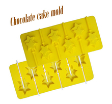 1PCS Food Grade Silicone Material,  Stars Shape For Chocolate Lollipop Mold, Cake Tools, Cookie , Jelly, Ice Mold L135