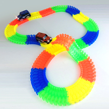 Diecast DIY Puzzle Vehicles Toy Roller Coaster Track Electronics Toy Stunt Track Rail Car Educational Toy for Children(China)