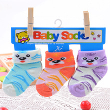 3 pairs/lot Newbron baby socks infant boys girls cotton sock toddler warm sox for 0-12months child Christmas socks
