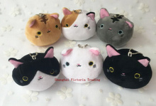 Cutest NEW Cats IN 6Designs , 7CM Plush Stuffed TOY Pendant Keychain Gift TOY DOLL Wedding Bouquet Gift TOY DOLL