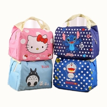 Fashion Portable Cartoon Cute Insulated lunch Bag Thermal Women Food Picnic Lunch Bags for School Students Tote Bags(China)