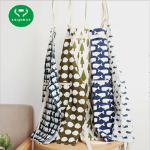 LKQBBSZ Cotton Kitchen Apron Printed Unisex Cooking Aprons Avental Dining Room Barbecue Restaurant Pocket Halterneck Adult apron