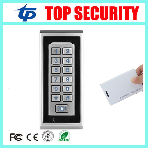 5pcs smart proximity card access control reader 125KHZ RFID card metal access control system 8000 users single access controler<br>