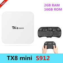 Buy TX8 MINI Smart Android 6.0 TV BOX Amlogic S912 Octa Core CPU 5G WIFI Bluetooth 4.0 Set Top Box 2GB RAM+16GB ROM 4K Media Player for $55.99 in AliExpress store
