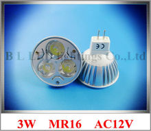 3W high power LED spotlight LED spot light 3W LED bulb lamp MR16 ( GU5.3 ) 3W 240lm AC12V free shipping