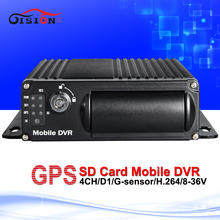 Free Shipping Mobile DVR,4CH MDVR with GPS,I/O Alarm,Motion Detective, 24 hours monitor,car DVR, Support SD Card up to 128G