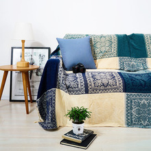 Size 150x190cm Retro Autumn Winter Cotton Towel Blanket Woven Knitted Cloth Chair Sofa Bed Cover Blankets Anti Skidding