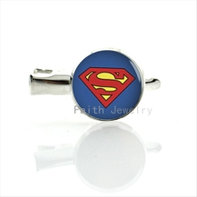 Cool Super men Logo picture hairgrips Personalized superhero hair jewelry fashion women accessories silver plated hair pins T125(China)