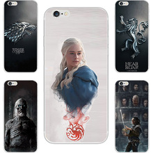 New Game Of Throne House Stark Lannister Painting Case For Apple iPhone 4 4S 5 5C 5S SE 6 6S 6 6S Plus Cell Phone Printed Cover