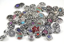 wholesale 10pcs/lot Mixed Interchangeable Jewelry Fit on 18mm Bracelet Rhinestone Style Stock Fashion Wholesale new Snap