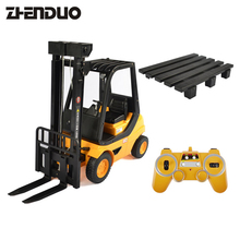 Buy ZhenDuo Toys RC Forlift 2.4G Remote Control Car Fork Shovel Truck Lift Pallets Engineering Vehicle Model Electronic Hobby Toys for $77.41 in AliExpress store