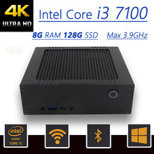 Best Mini PC Assemble Computer With Intel Core i3 7100 Max 3.9GHz, 8G RAM 128G SSD, HD Graphics 630, Windows10+HDMI+VGA