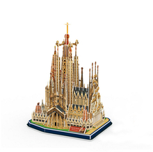 Development of intelligence,Educational toys,good quality,foam,emulational,gifts,paper model,building,Spain,cathedral,3D PUZZLE