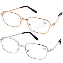 NoEnName_Null Women Men Metal Anti-fatigue Reading Glasses +1.00 1.50 2.00 2.50 3.00 3.50 4.00 Diopter