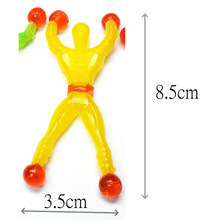50pc Sticky Man Wallman Toys Promotional Vending kid Pinata bag filler Birthday Party Favors Gift School Prize carnival Pinata