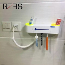 RZ3S UV Toothbrush Sanitizer Couple Pack Fixed on the Wall Toothbrush Sterilizer Kill Germ&Bacteria up to 99.9%(China)