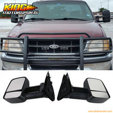 Fit For 97-04 Ford F150 F250 Side View Towing Tow Mirrors Manual Non-Heated Pair Set
