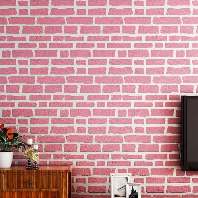 Free Shipping 3D Stereo Nonwovens Relief Brick Wallpaper Garment Shop Nail Shop Decoration Irregular Brick Wallpaper<br>