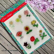 1 sheet DIY Colorful Small Flowers Transparent Clear Rubber Stamp Seal Paper Craft Scrapbooking Decoration