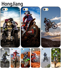 HongJiang Motocross moto cross dirtbikes cell phone Cover case for iphone 6 4 4s 5 5s SE 5c 6 6s 7 8 plus case for iphone 7 X(China)