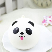 2017 Cute Panda Dumpling Pendant PU Decompression Toys Random Delivery Girl Toy Gift