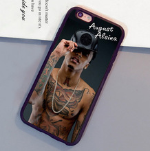 August Alsina Artist Singer Printed Luxury Mobile Phone Case For iPhone 6 6S Plus 7 7 Plus 5 5S 5C SE 4S Soft Rubber Back Cover