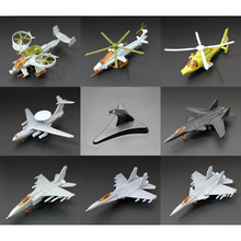 8 style/lot The 4D assembly model plane blocks third bomb J-20 stealth fighter Osprey helicopter toy collection small DIY Toys(China)
