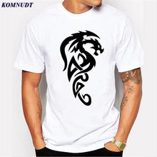 KOMNUDT Chinese Style Mens Casual T-Shirt Fashion 2017 Dragon 3D Print T Shirt Men Short Sleeve Summer O-Neck Tee Shirt Homme T(China)
