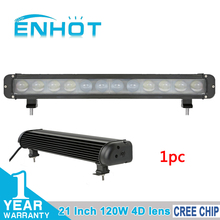 ENHOT 4D LENS 21'' 120W CREE CHIP OFF ROAD LIGHT BAR CAR LED BAR COMBO BEAM FOR OFFROAD MARINE BOAT CAMPING 4x4 ATV UTV USE
