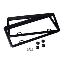 Staineless Steel Registration Plate Holder Type License Plate Frame Tag Cover Original 3K Twill for North America Cars Only