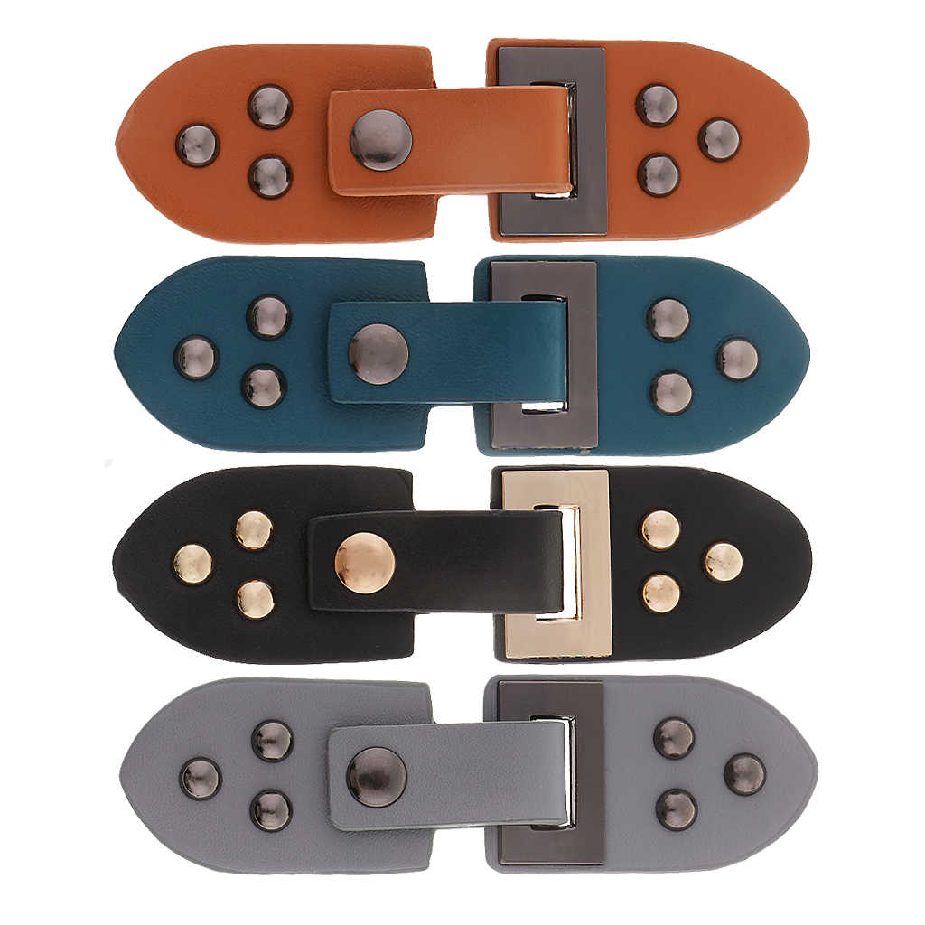 f6ad7a239bd 1 Set Sew on Leather Snap Clasp Buckles Hook Eye Button For Clothing Bags  Curtains Home