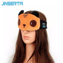 JINSERTA Cute Bear Sleep Headphones Bluetooth Headset Wireless Headphone Breathable Bluetooth Eye Mask For Children and Adult