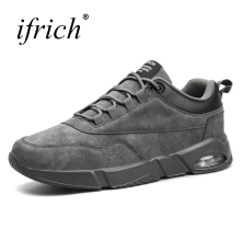 Buy 2018 Mens Sport Trainers Spring Summer Air Shoes Man Running Black Gray Men Shoes Sport Leather Running Shoes Men for $24.50 in AliExpress store