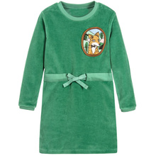 Baby Girls Velour Fox Dress Long Sleeve Brand Kids Winter Dresses for Girls Clothes Vestidos Christmas Dress Princess Costume(China)