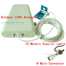 Outdoor Antenna 800-2500mhz frequency 3G 4G GSM CDMA DCS Outside Directional LPDA Antenna for Signal Booster Repeater +10m Cable
