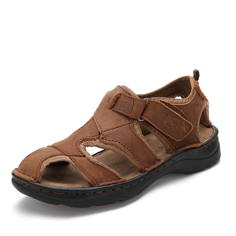 2017 Summer Kids Shoes Brand Closed Toe Toddler Boys Sandals Orthopedic Sport Pu Leather Baby Boys Sandals Shoes<br>