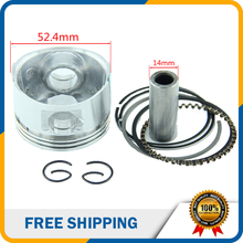 Piston 52.4mm 14mm Pin Ring  Set for Lifan 125cc Air Cooled Engine Dirt Bike ATV Quad Bike HH-102A