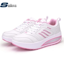 Women running shoes women outdoor running shoes cushioning thick crust outdoor sneakers breathable leather sports shoes #B2119