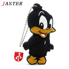 Cartoon daffy duck USB flash drive pen drive pendrive 32GB 16GB 8GB 4GB USB 2.0 cute animal Flash Memory Stick U Disk mini gift