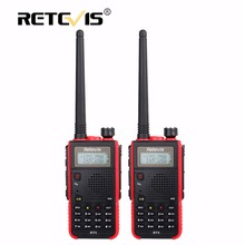 2 pcs Portable Walkie Talkie Pair Retevis RT5 5W 128CH VHF UHF Dual Band VOX FM Radio Station cb Radio Transceiver Walkie-Talkie(China)
