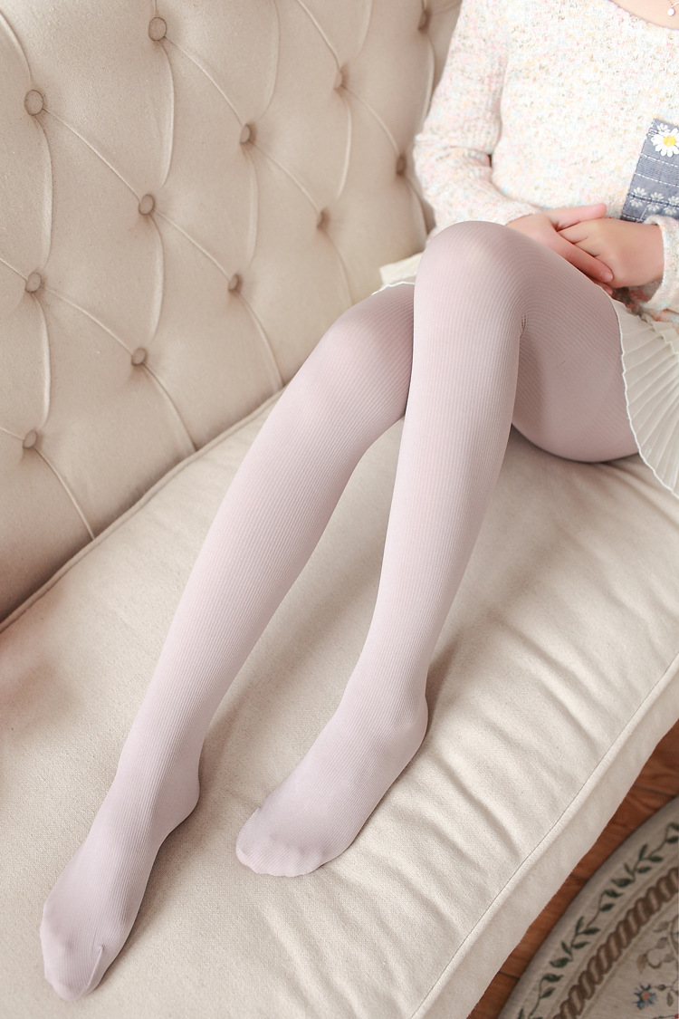 New Women's Tights, Stripe Velvet Hosiery, Solid Candy Color, Standard Stockings Pantyhose 24