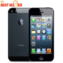 "Hot Top Unlocked Sale Original Apple iPhone 5 WCDMA Cell Mobile phone Dual-core 16GB 32GB 64GB ROM 4.0"" 8MP Camera WIFI GPS IOS(China)"