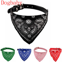 Dogbaby Pink Adjustable Puppy Cat Neck Dog scarf Collar Neckerchief Flowers Print Pet supplies Pet shop dog accessories 2017 New(China)