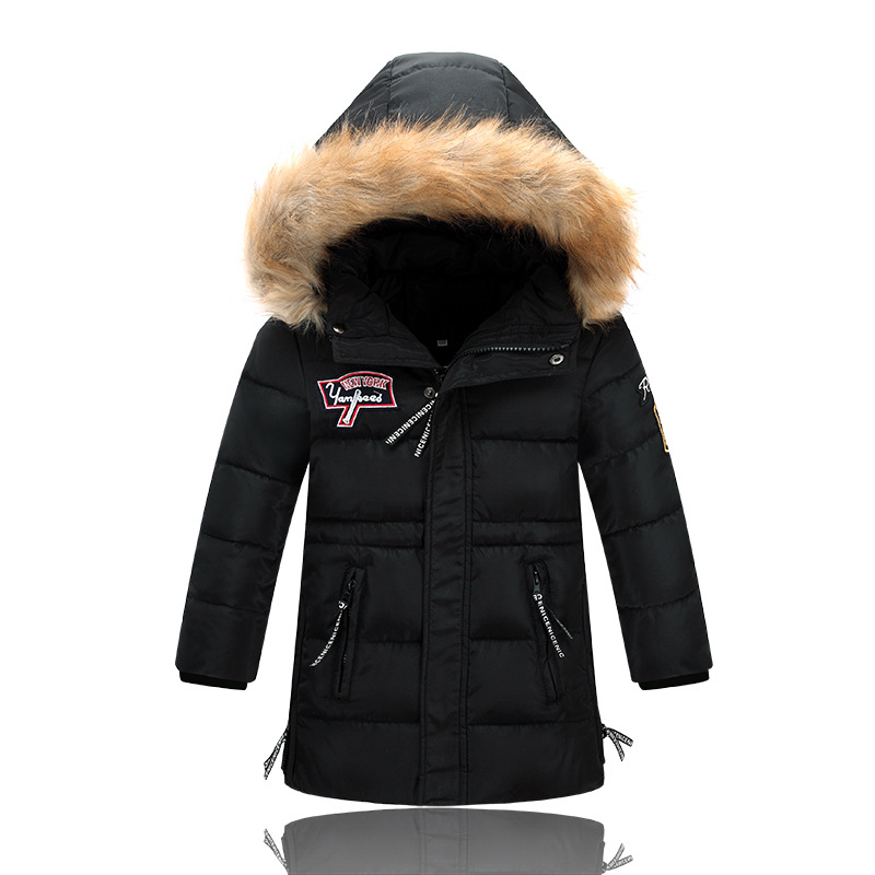 Winter Jacket Kids Boys 2016 Boys Winter Long Down Jackets Outerwear Coats Big Fur Collar Thick Warm White Duck Down Boys ParkaÎäåæäà è àêñåññóàðû<br><br>