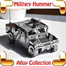 New Year Gift HUM 3D Model World War Military Vehicle Metal Model Car DIY Alloy Puzzle Game For Boyfriend Collection(China)