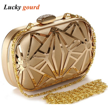 Fashion Leisure Tide Women Will Cool New 2017 Evening Bag Female Bag Dinner Packages America And Europe Pop Hollow Out Iron Z552