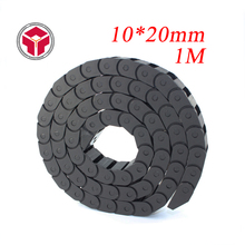 10 x 20mm 10*20mm L1000mm Cable Drag Chain Wire Carrier with end connectors for CNC Router Machine Tools(China)